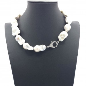Jazz Baroque Pearl Necklace 344