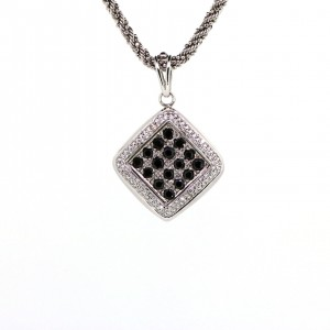 Kia's black n white diamond  Pendant 278